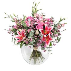 nice Early Morning,  Calgary Flowers - New Bouquet Early Morning by Calgary Flowers Roses, lilies and delicate foliage has been known to light up faces from early morning to way past the midnight hour.  ,  https://sendflowerstocalgary.com/product/early-morning/, 72.95