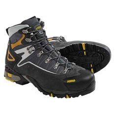 Asolo Flame Gore-Tex® Hiking Boots - Waterproof (For Men) in Graphite/Gunmetal - Closeouts Gore Tex Hiking Boots, Winter Hiking Boots, Best Hiking Boots, Hiking Boots Women, Hiking Shoes, Hiking Gear, Hiking Tips, Hiking Outfits, Men Boots