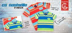 Cutty's Nashville V-neck celebrates life with bright, bold and beautiful colours in an on-trend stripe patterning. The perfect start to spring, it's made from a comfortable cotton material with ribbed collar and button detailing.