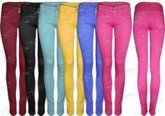 #NEW WOMENS #LADIES #COLOUR SKINNY JEANS DENIM JEAN #SLIM STRETCH #FIT CHINOS TROUSER   eBay #clothing #fashion