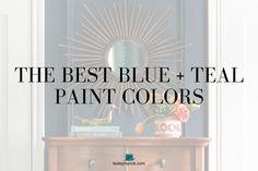 The Best Blue and Teal Paint Colors - Lesley Myrick Art + Design