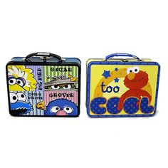 Sesame Street Elmo Embossed Carry All Tin Lunch Box Set - Tin Box Company - Sesame Street - Lunch Boxes at Entertainment Earth