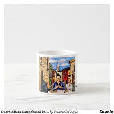 Guardialfiera Campobasso Italy Expresso Mug Shot Glass, Italy, Tote Bag, Mugs, Tableware, Italia, Dinnerware, Tumblers, Tablewares