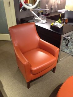 BSMT GUEST ROOM:  Sophia chair in Taupe (not this fabric - it'll match Fifi cube) from Dania