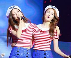 150711 Jiyeon and  Hyomin @ T-ARA's China Tour in Beijing