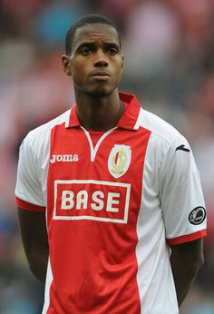 Ricardo Faty of Liege looks on prior to the Belgium Jupilar League match between Standard de Liege and Westerlo at Stade Maurice Dufrasne on August 23, 2014 in Liege, Belgium.