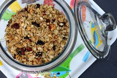 How to make Maple Cluster Granola -- Package in small containers to give away as gifts.