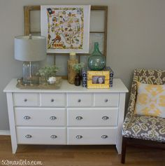 1 Dresser, 2 Ways { Christmas Decor!}