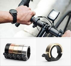 Australian bike accessory brand Knog, have designed a contemporary version of a bicycle bell. The bike bell is named 'Oi', which is fitting as the company is Australian, and 'Oi' is a common slang term said by people to get someone's attention. It has been designed where form and function play an equal part in the design.