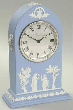 Wedgwood Light Blue Jasperware  Thomas Moss Baronet Mantel Clock