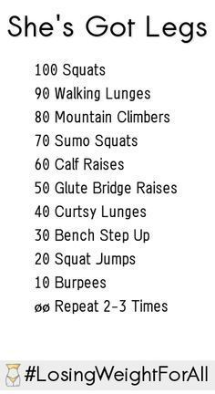 Try this leg workout and feel the burn. #fitness                                                                                                                                                                                 More