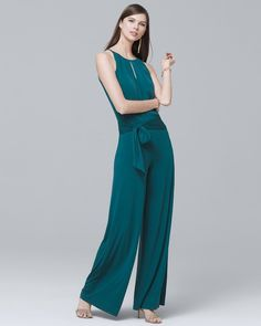 932e359c47b6 Women s Wide-Leg Keyhole Jumpsuit by White House Black Market Polished  Look