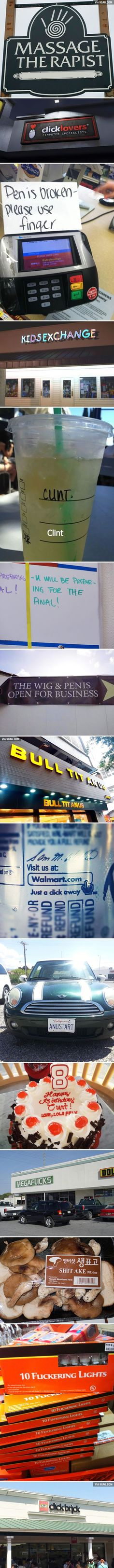 Bad letter spacing made all the difference for signs and other writing. #9Gag #funny