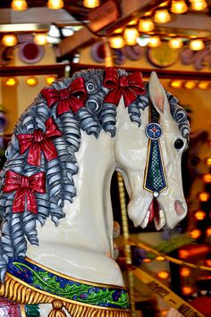 Ringlets And Red Ribbons Carousel Horse | Flickr