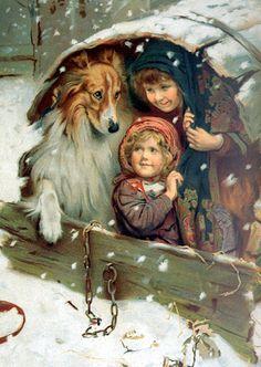pintor | Postales antiguas