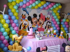 Mini Mousse, Baby Disney, Baby Shower, Shower Ideas, Head Table Decor, Disney Birthday, Baby Party, Party, Babyshower