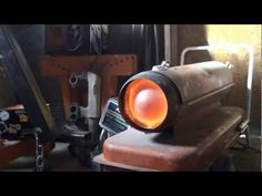Converting a shop heater to run on waste oils Part 1 - YouTube