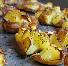 Garlic Crash Potatoes with a Creamy Dill Sauce - it's a vegan recipe but I used real mayo and sour cream for this Awesome Dill Sauce...so good
