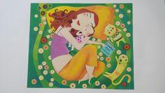 Cuadro con arenas de colores. Reproducción de una obra de Leandro Lamas.