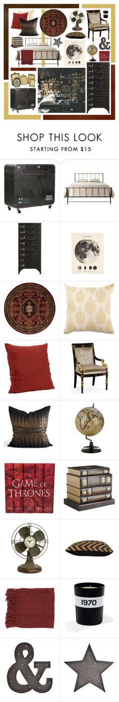 """""""Dream Room"""" by nicolemroberts ❤ liked on Polyvore featuring interior, interiors, interior design, hogar, home decor, interior decorating, Nourison, Pier 1 Imports, Jonathan Charles Fine Furniture y Bellerby & Co"""