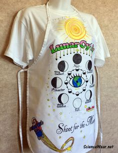 STEAM - combining art and design with science with this great Lunar Cycle project that can also serve as an assessment.  Very affordable for every student in your classroom.  Find out more at http://sciencewear.net/lunar-cycle.html