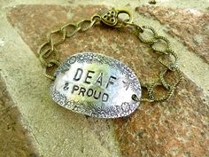 Things That Only Happen To Deaf People Sign Solutions, Deaf Dog, Deaf People, Deaf Culture, Its My Bday, Hearing Aids, Dog Tag Necklace, Bracelet, Education