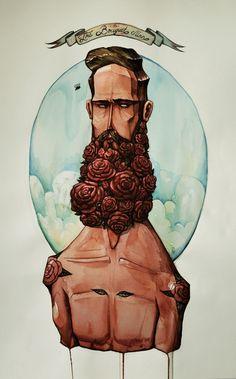 The Bouquet Man by Maria Tiurina, via Behance