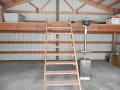 How to frame a loft loft in pole barn general for Metal building with loft