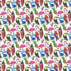 Liberty Fabric Tana Lawn Birds of Paradise A