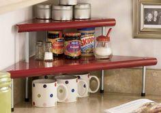 kitchen counter shelving