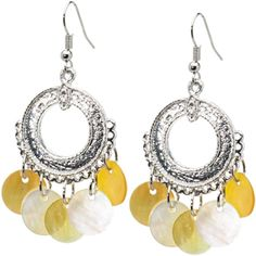Bohemian Stylistic Mother of Pearl Earrings $9.99 #piercing #earring #boho #beach #bodycandy #beauty #love #summer #yellow #sunshine #vacation #bikini
