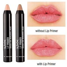 Antes e depois do Lip Primer