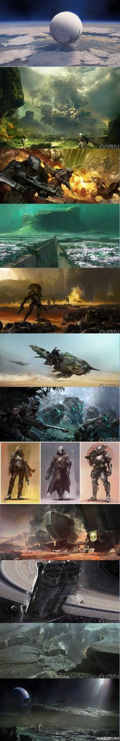 Bungie revealed Destiny concept arts. Really awesome!!