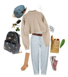 """""""What a Sleepy Town."""" by kimnojams ❤ liked on Polyvore featuring Topshop, Warehouse, Thalia Sodi, Zoon, New Balance, Monki and Abyss & Habidecor"""