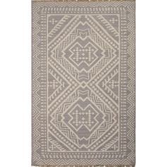 This beautifully made area rug has a tribal design which will complement the style of your room. It is reversible, very durable and natural. The main colors in this hand made flat-weave rug are grey with ivory and white.