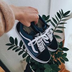 Navy blue trainers
