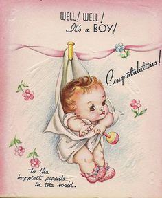 vintage baby card | Flickr - Photo Sharing!