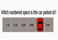 which numbered space is the car parked at?