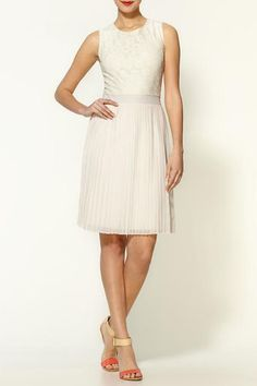 Pim + Larkin Lace And Pleated Dress, $89, available at Piperlime.