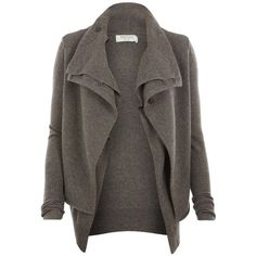 Jaque Cardigan ($137) ❤ liked on Polyvore featuring tops, cardigans, jackets, outerwear, sweaters, women, wool cardigan, long sleeve cardigan, long tops and wool tops