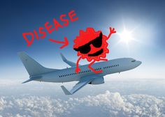 How do you even think diseases travel between countries? PLANES.