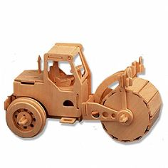 3-D Wooden Puzzle - Road Roller Model -Affordable Gift for your Little One! Item #DCHI-WPZ-P027