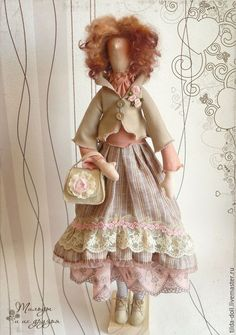 Купить Кукла в стиле Бохо: Жаклин - тильда, кукла Тильда, тильды, куклы тильды ♡