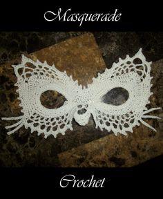 Lace Cat Masquerade Mask Crochet Pattern PDF by 365Crochet on Etsy, $1.95