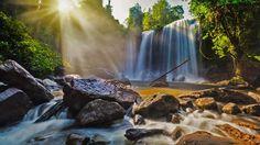 Waterfalls in Phnom Kulen National Park, Cambodia (© f9photos/Shutterstock)