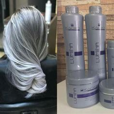 Short Curly Hairstyles For Women, Curly Hair Styles, Caleb Et Sophia, Silver Grey Hair Dye, Pelo Color Plata, Ice Hair, Frosted Hair, Shampoo For Gray Hair, Grey Hair Don't Care