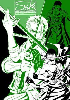 Zoro One Piece, One Peace, Green Theme, Roronoa Zoro, Black Butler, Hetalia, Boku No Hero Academia, Haikyuu, Fan Art