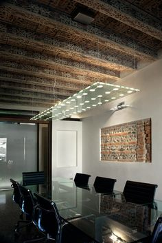 Gazzola Studio conference room   Fabbian lighting