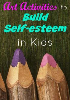 Using art activities to build self-esteem in kids is a great way to help children get through rough times in ways they can relate to. Check out these ideas!