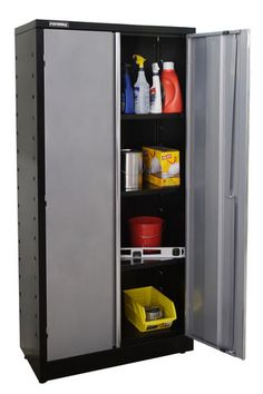 Performax® W x H x D Silver Tall Storage Cabinet